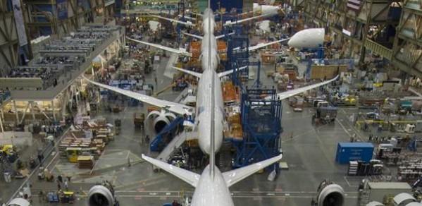 Boeing's 787 factory in Everett