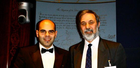 Dr Jasser Al-Kassab (left) and Professor Richard Elgese, President of the Operational Research Society