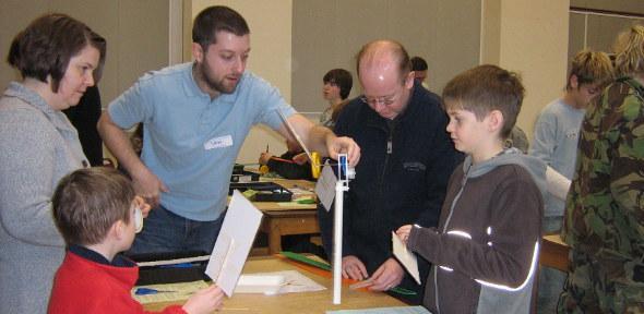Sam Bennett demonstrating engineering principles