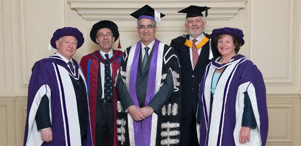 Sir John Parker, Professor Stephen Richardson, Sir Keith O'Nions, and Professor Dame Ann Dowling
