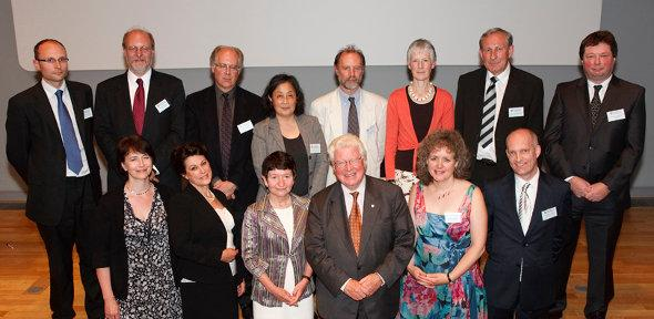 Dr Matthew Juniper, back row, first on left, with the other Pilkington Prize winners