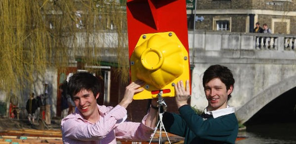 Ben Sheppard (left) and Robbie Howshall with 'Pebble'