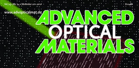 Cover image of Advanced Optical Materials journal