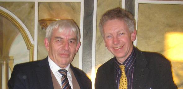 Keith Guy FRAEng, the chairman of the panel of judges (left) with Dr Hugh Hunt