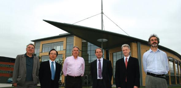 From left to right: Bill Crossland, Shinichi Sasagawa, Bill Milne, Peter Woodland, Ian White and Terry Clapp