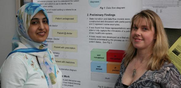 Tabassum Jafri, PhD student and Dr Melinda Lyons