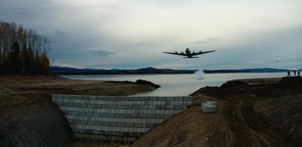 Bombing the dam