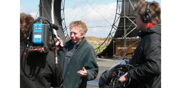 Dr Hugh Hunt being interviewed on Fifth Gear