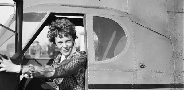 Amelia Earhart, first female aviator to fly solo across the Atlantic Ocean