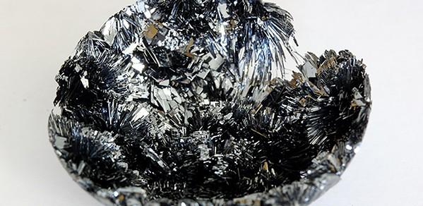 Black phosphorus (BP) crystal before it is converted into functional ink.