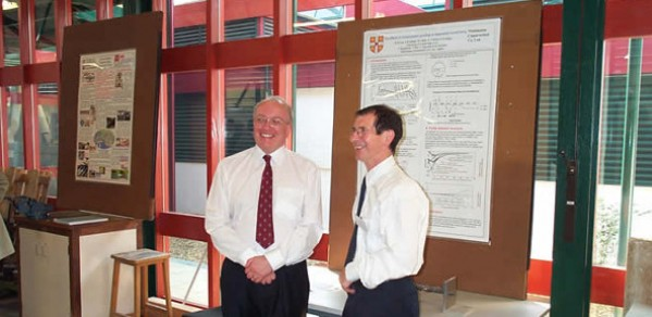 Professor Malcolm Bolton (left) and Professor John Atkinson (City University)