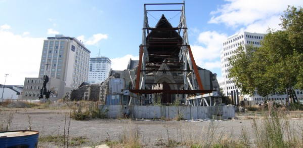 The Christchurch Cathedral is an iconic image from the earthquakes in Christchurch New Zealand.