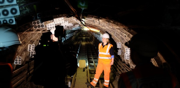 Jennifer in the world's first 'smart tunnel'. CSIC equipped the Royal Mail Tunnel with ground-breaking sensing technologies, and monitored it during the Crossrail construction which is located beneath