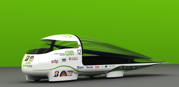 Mirage. The team's race vehicle for the 2017 Bridgestone World Solar Challenge.