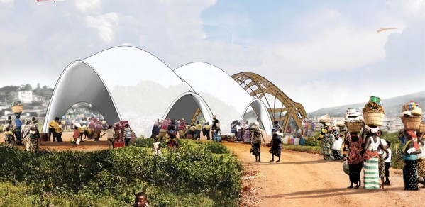 Artists impression of Droneport for Venice Architecture Biennale 2016