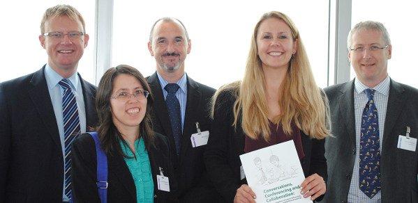 From left: Howard Dickel; Dr Joy Goodman-Deane; Dr Mike Hollier; Dr Anna Mieczakowski; Professor John Clarkson