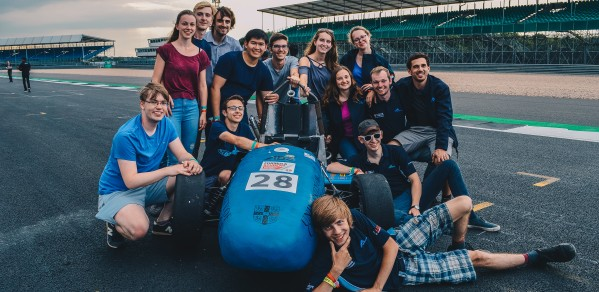 The Full Blue Racing Team at Silverstone