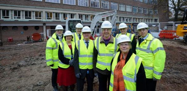 Ground-breaking ceremony for the James Dyson Building