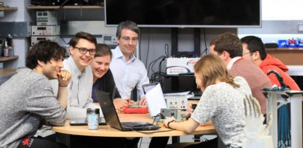 Team members from Cambridge's EPSRC Centre for Doctoral Training in Sensor Technologies and Applications