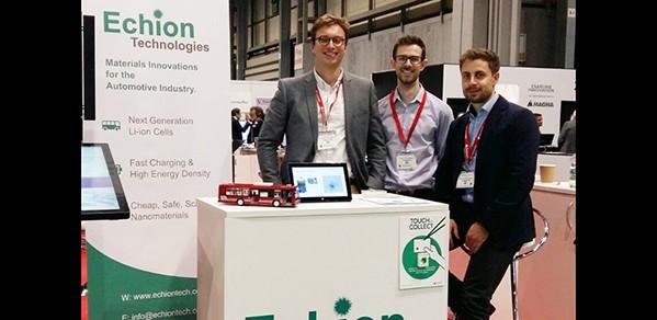 From left, Echion Technologies co-founders Jean de La Verpillière and Dr Alex Groombridge, with external consultant Christian Hoecker.