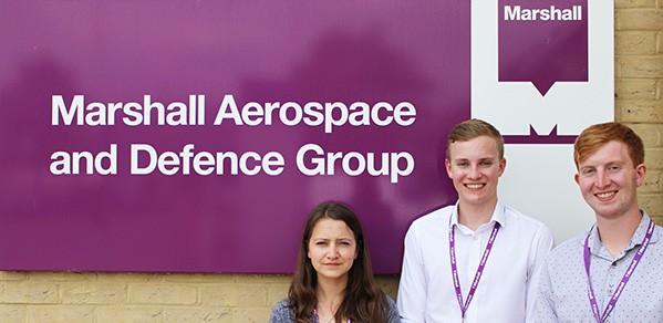 From left, Cambridge undergraduates Yana Lishkova, Chris Barrott and Alexander Johnson.