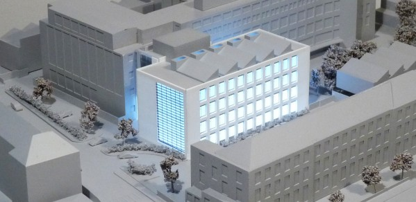 Architects' impression of the new four storey James Dyson Building for Engineering