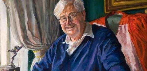John Ffowcs-Williams portrait by Louise Riley-Smith