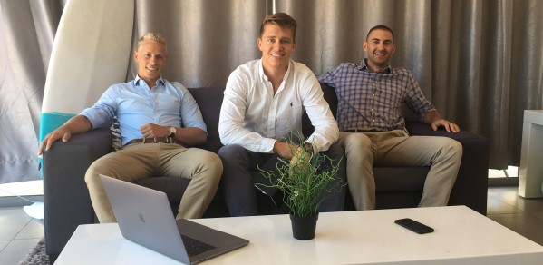 Co-founders from left Jos van der Westhuizen, Filip Kozera and Derrick van Schalkwyk