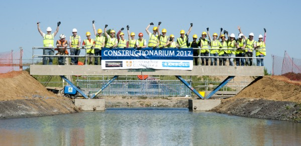 28 third year engineering students headed out to rural Norfolk to take part in a project called Constructionarium