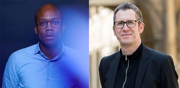 Dr Phillip Stanley-Marbell (left) and Professor Stephan Hofmann.