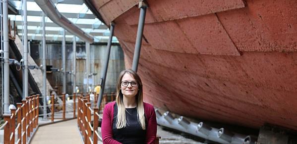 Ship's Conservation Engineer Nicola Grahamslaw