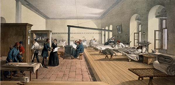One of the wards in the hospital at Scutari (Turkey) (Crimean War 1856)