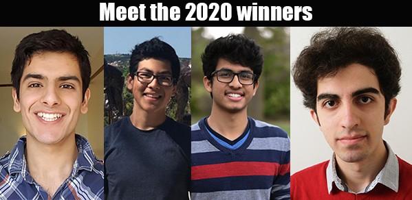 From left, Akil Hashmi, Matias Silva, Sanjan Das and Edwin Bahrami Balani.