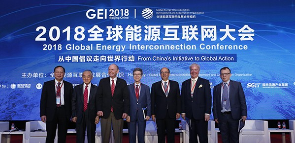 Far right, Dr Tim Coombs alongside other speakers at the 2018 GEI Conference.