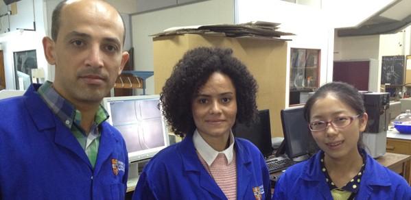 Rami Alghamri (left), Livia Souza (centre) and Wenting Mao (right)