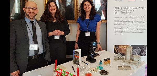 Dr Chrysoula Litina (far right) with other researchers at 'Science for a Successful Nation 2018'.