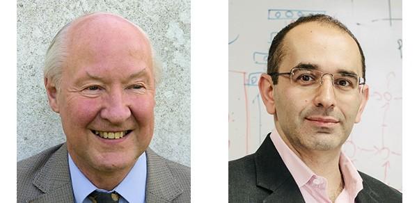 Professor John Robertson (left) and Professor Zoubin Ghahramani