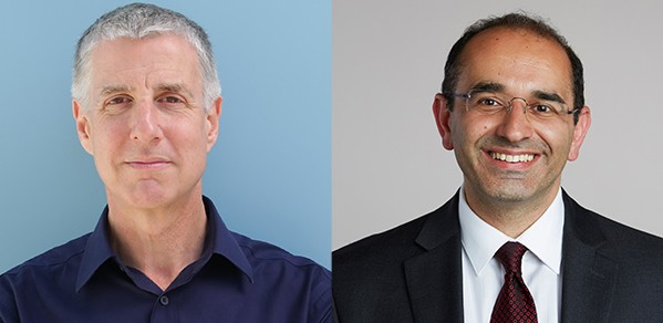 Professor Daniel Wolpert (left) and Professor Zoubin Ghahramani