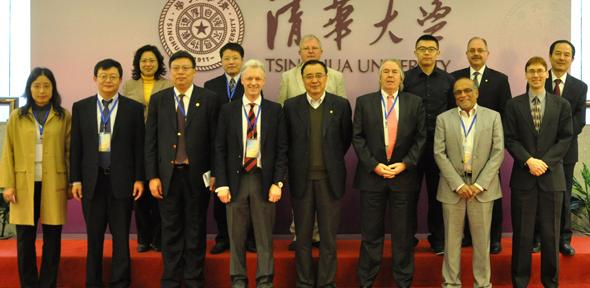 Cambridge and Tsinghua academics at Tsinghua University.