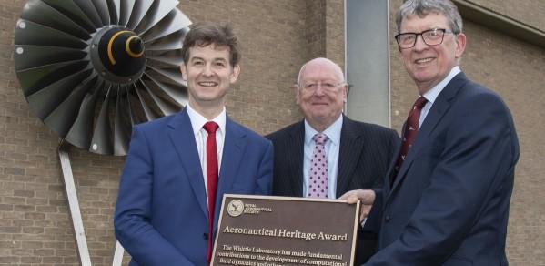 Left to right: Professor Rob Miller, Professor John Wallwork, Sir Brian Burridge