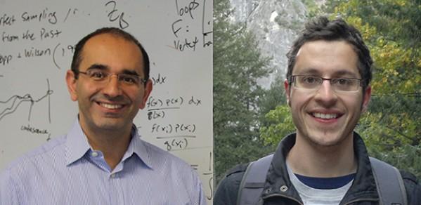 (From left) Professor Zoubin Ghahramani and alumnus Tim Mamtora.