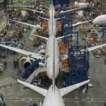 Boeing's 787 factory in Everett  Credit: Boeing