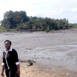Funmi, at a location in the Niger Delta area, taken last summer when collecting soil samples for laboratory testing