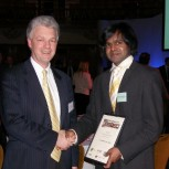 Professor Ian White (left) and Sithamparanathan Sabesan