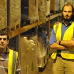 Alumni James Strachan and James Hyde at their fulfilment house 'Six'