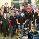 Industrial sponsors and students meet at the recent forum