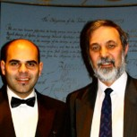 Dr Jasser Al-Kassab (left) and Professor Richard Elgese, President of the Operational Research Society