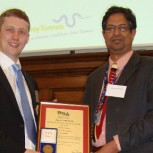 Drs Knappett (left) and Madabhushi with their award