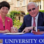 Vice-Chancellor Professor Dame Alison Richard and Ray O'Rourke