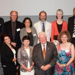 Dr Matthew Juniper, back row, first on left, with the other Pilkington Prize winners.